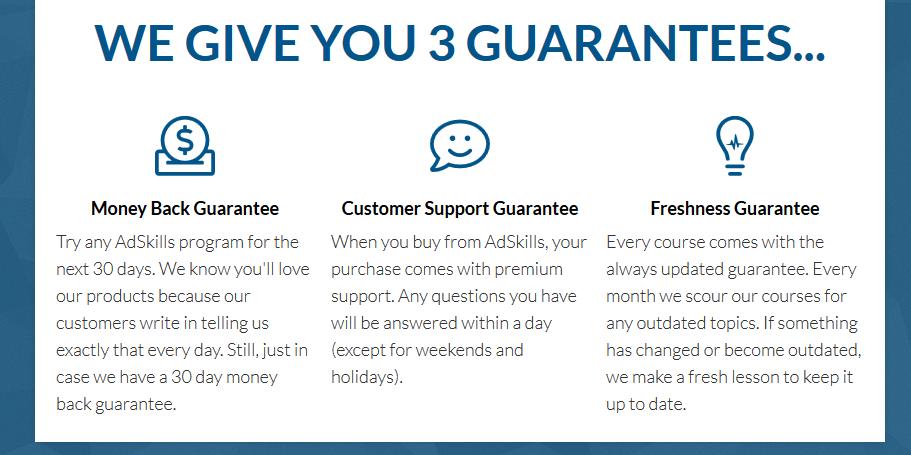 Adksills Triple Guarantee